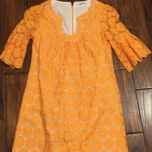 Shoshanna Orange Dress 6